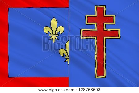 Flag of Maine-et-Loire is a department in west-central France in the Pays de la Loire region.