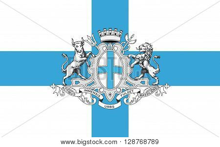 Flag of Marseille also known as Marseilles in English is a city in France