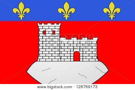 Flag of Montbrison is a commune in the Loire department in central France.