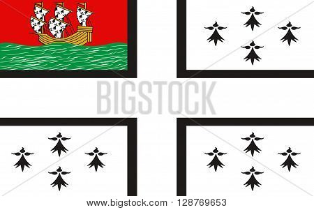 Flag of Nantes is a city in western France