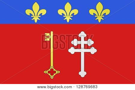 Flag of Narbonne is a commune in southern France in the Languedoc-Roussillon region.