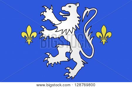 Flag of Nogent-le-Rotrou is a commune in the Eure-et-Loir department in northern France