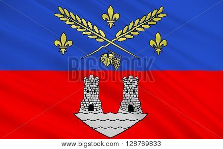 Flag of Nogent-sur-Marne is a commune in the eastern suburbs of Paris France