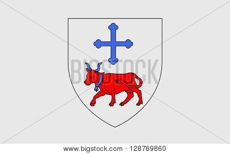 Flag of Oloron-Sainte-Marie is a commune in the Pyrenees-Atlantiques department in the region of Bearn in south-western France.