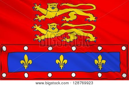 Flag of Orne - department in the northwest of France one of the departments in the region Basse-Normandie. The administrative center - Alencon.