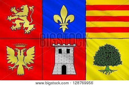 Flag of Pamiers is a commune in the Ariege department in the Midi-Pyrenees region in southwestern France. It is a sub-prefecture of the department.