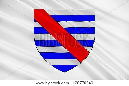 Flag of Parthenay is an ancient fortified town and commune in the Deux-Sevres department of the Poitou-Charentes region in western France.