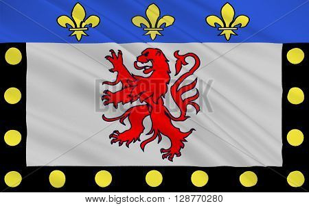 Flag of Poitiers is a city on the Clain river in west-central France. It is a commune and the capital of the Vienne department and also of the Poitou-Charentes region