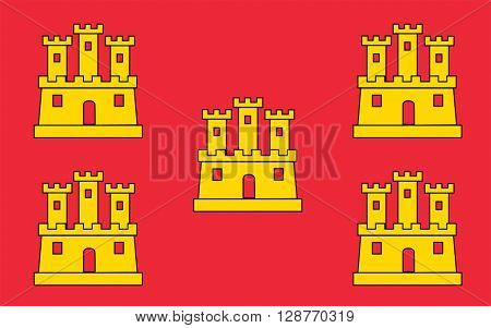 Flag of Poitou - Charentes - region in western France the relevant historical region of Poitou. The main town - Poitiers.