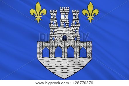 Flag of Pontoise is a commune in the northwestern suburbs of Paris France