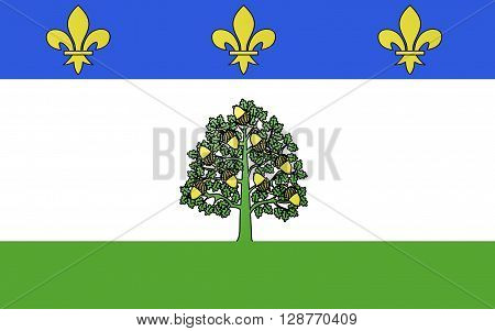 Flag of Privas is a commune of France capital of the Ardeche department. It is the smallest administrative center of any department in France