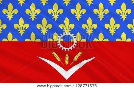 Flag of Seine-Saint-Denis is a French department located in the Ile-de-France region