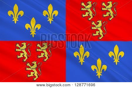 Flag of Somme is a department of France located in the north of the country and named after the Somme river. It is part of the Nord-Pas-de-Calais-Picardie region of France