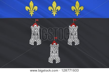 Flag of Tours is a city located in the centre-west of France. It is the administrative centre of the Indre-et-Loire department and the largest city in the Centre-Val de Loire region of France