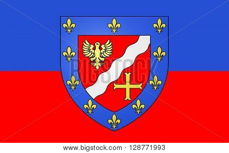Flag of Val-dOise is a French department located in the Ile-de-France region