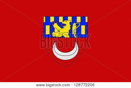 Flag of Vesoul is a commune in the Haute-Saone department in the region of Franche-Comte located in eastern France.