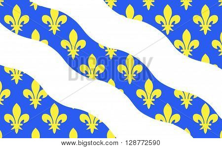 Flag of Yvelines is a French department in the region of Ile-de-France