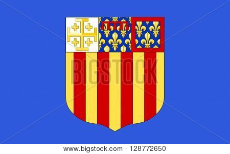 Flag of Aix-en-Provence is a city-commune in the south of France