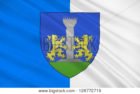 Flag of Ajaccio is a French commune prefecture of the department of Corse-du-Sud and capital city of Corsica