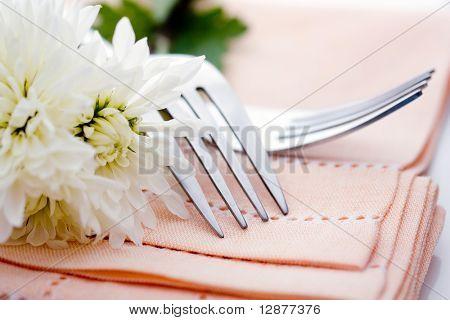 Napkin on wedding table