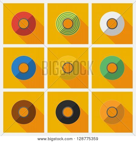 Set roll of Insulation Tape. Isolated vector illustrations. Vector flat illustration.