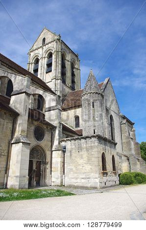 Church in the small village of Auvers Sur Oise in France, Europe