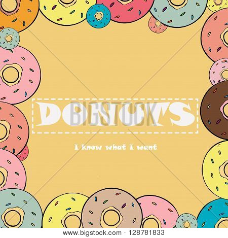 card with donuts