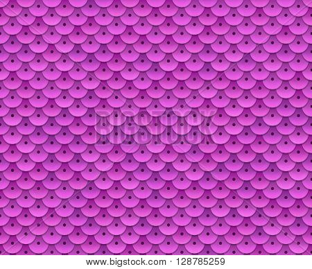 Pink sequins seamless pattern. Tileable vector background.