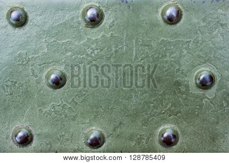 military metallic surface background with round detail