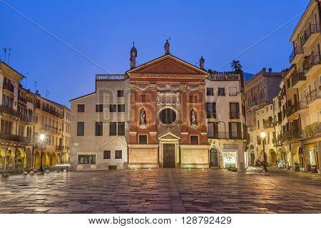 Chiesa di San Clemente located on Piazza dei Signori in Padua Veneto Italy