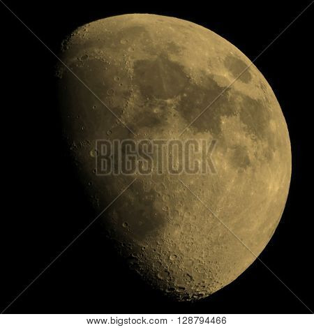 Gibbous Moon Sepia