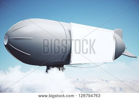Airship With Banner