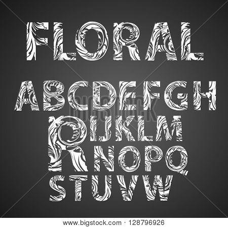 Floral Vector Font