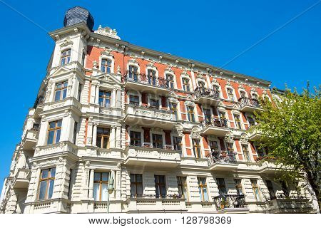 Beautiful restored residential building in Berlin, Germany