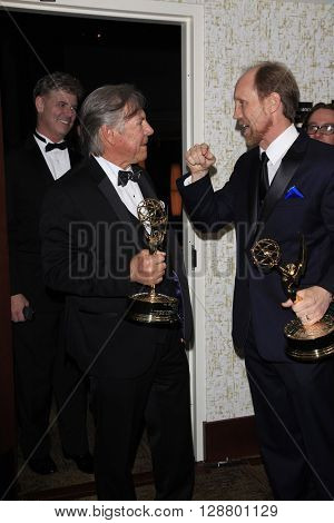 LOS ANGELES - APR 29: Jeff Bennett, Frank Welker at The 43rd Daytime Creative Arts Emmy Awards Gala at the Westin Bonaventure Hotel on April 29, 2016 in Los Angeles, California