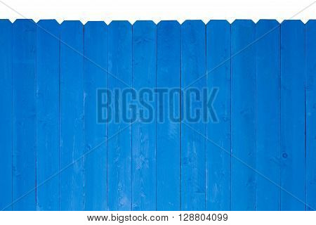 Wooden Fence Stained With Royal Blue Paint