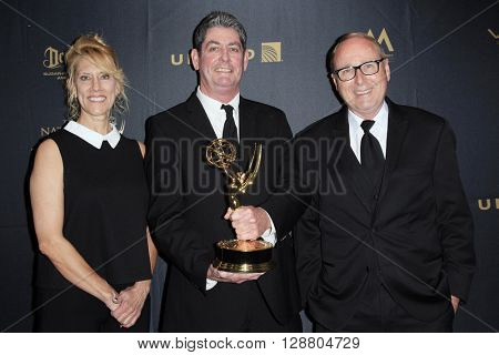 LOS ANGELES - APR 29: Barbara Langdon, Kevin Carr, Dale Carlson at The 43rd Daytime Creative Arts Emmy Awards Gala at the Westin Bonaventure Hotel on April 29, 2016 in Los Angeles, California