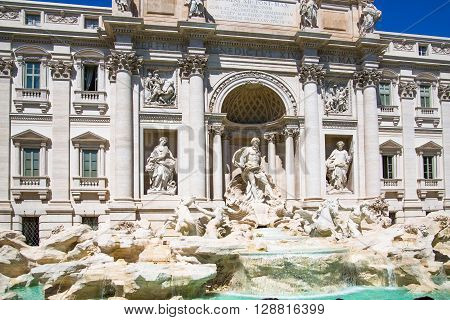 Fontana di Trevi in Rome, Italy Rome