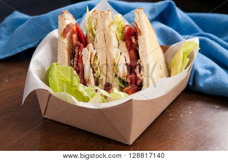 food truck take out club sandwich clubhouse style