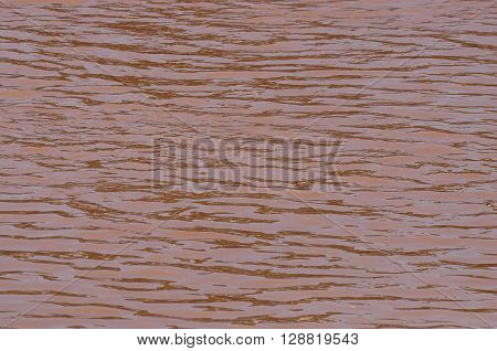 The Nan River reddish brown in Thailand