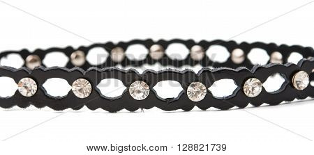strap with stones isolated on white background