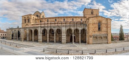 Panoramic view at the Basilica San Vincente of Avila - Spain