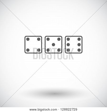 Craps. Single flat icon on white background. Vector illustration.