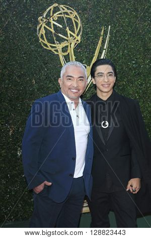 LOS ANGELES - APR 29: Cesar Millan, Calvin Millan at The 43rd Daytime Creative Arts Emmy Awards Gala at the Westin Bonaventure Hotel on April 29, 2016 in Los Angeles, California