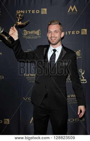 LOS ANGELES - APR 29: Travis Hagenbuch at The 43rd Daytime Creative Arts Emmy Awards Gala at the Westin Bonaventure Hotel on April 29, 2016 in Los Angeles, California