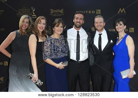 LOS ANGELES - APR 29: Jack Steward, Colton Smith, Colleen Needles Steward, Jane E. Durkee, Shannon Keenan Demers, Heidi Ruen - 43rd Daytime Creative Arts Emmy Awards, April 29, 2016 in Los Angeles, CA