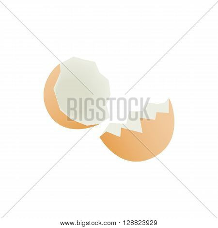 Eggshell icon in isometric 3d style on a white background
