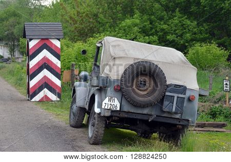 German historical military transport.At May 7,2016 in Kiev, Ukraine