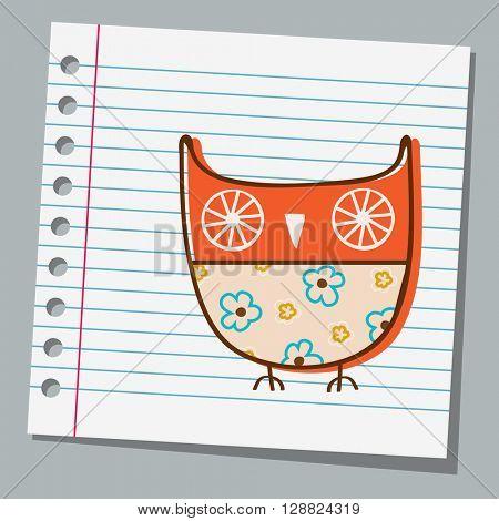 notebook paper cute owl