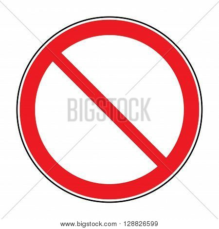 Prohibition sign isolated on white for no entry no entrance wrong way banning concepts. Red prohibition restriction - no entry sign. Red no or not allowed symbol on white background. Stock vector